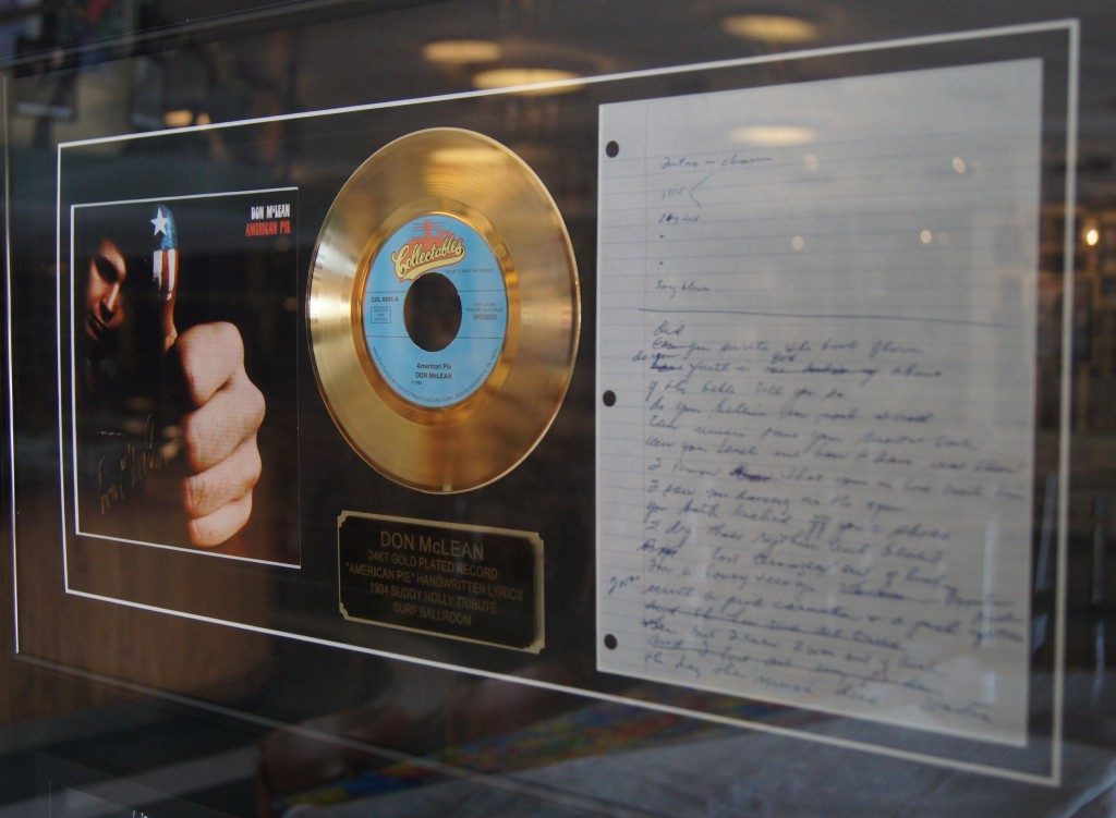 Don McLean's Gold Record.